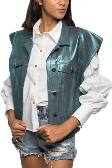 Jacket Bleu Métallique