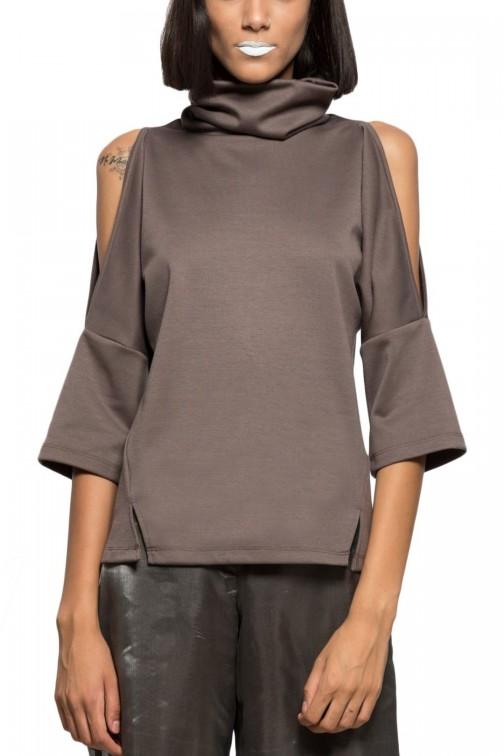 Off the shoulder knit top