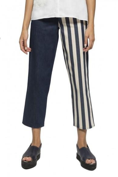 Half striped jeans