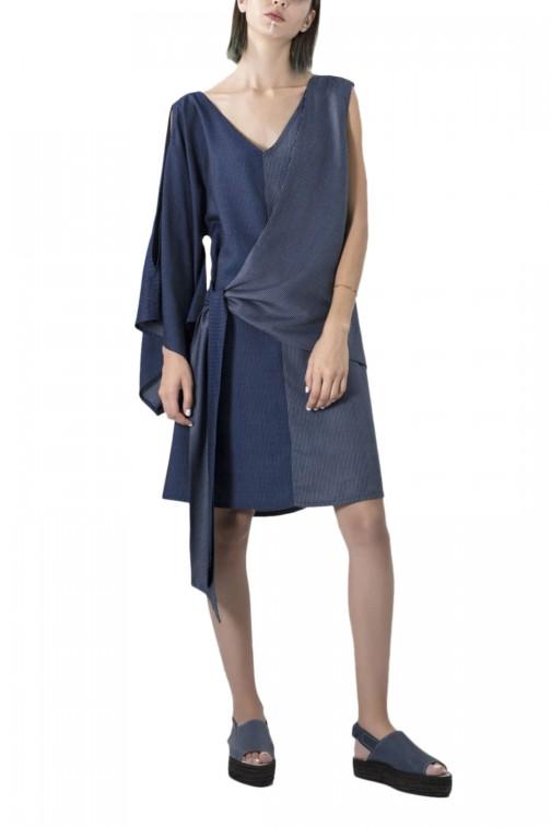 Asymmetrical kyoto dress
