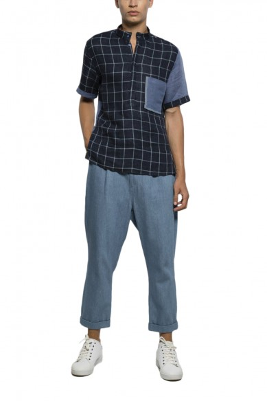 Rolled up baggy pants