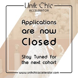📣 𝐀𝐩𝐩𝐥𝐢𝐜𝐚𝐭𝐢𝐨𝐧 𝐂𝐥𝐨𝐬𝐞𝐝 !  Dear applicants, we would like to thank you for your interest in  𝐂𝐎𝐇𝐎𝐑𝐓 𝐙𝐄𝐑𝐎 by @unik.chic_accelerator. Preselected candidates will be approached via email on  𝐍𝐨𝐯𝐞𝐦𝐛𝐞𝐫 𝟐𝟐𝐧𝐝, 𝟐𝟎𝟐𝟎 .   𝐆𝐨𝐨𝐝 𝐥𝐮𝐜𝐤 !  #unikchic #unikchicaccelerator #fashion #uniqueness #luxury #application #like #share #comment