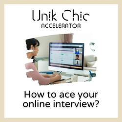 Getting ready for your 𝐨𝐧𝐥𝐢𝐧𝐞 interview ?  Here are some tips that may help you 𝐚𝐜𝐞 𝐲𝐨𝐮𝐫 𝐦𝐞𝐞𝐭𝐢𝐧𝐠.  #unikchic #unikchicaccelerator #tips_for_online_interviews #like #share #comment